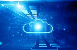 Cloud computing concept. Digital illustration